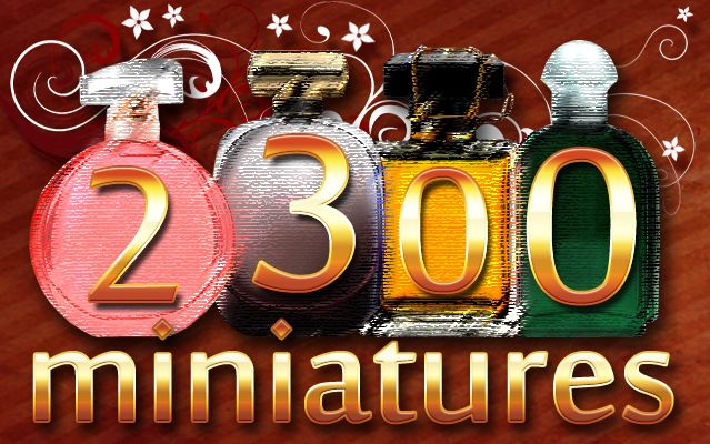 2300 miniatures de parfums